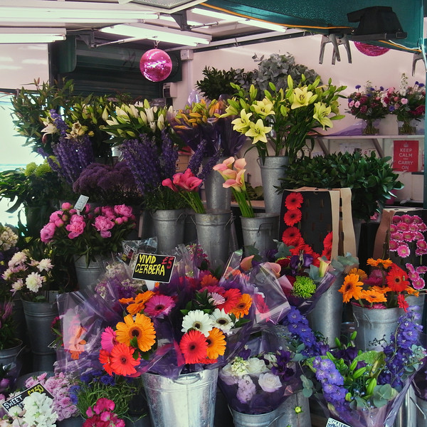 Flower stall, Embankment Tube Station