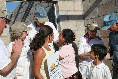 Rubidia Lopez and children Katerine & Michael sponsored by The Schaub family. John Schaub standing tall in the back. ev