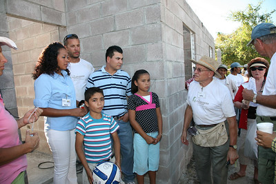 Alirio and Reina Molina have two children, Angelica and Kevin. LeRoy and Phyllis Troyer of South Bend, IN sponsored this house. ev