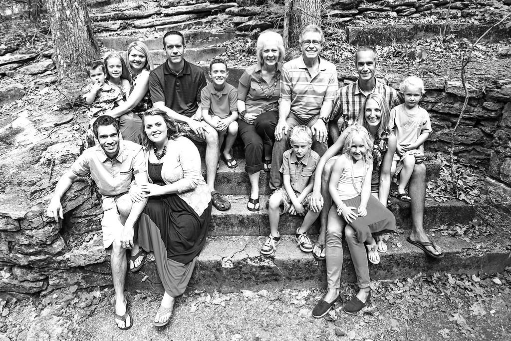 Evans Family-1b&w