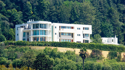 Stada Vecchia, Bel Air, California Full circle: The fact that this was a Gwathmey-Siegel home was meaningless to me when construction was eminent in the late 90's. Later I came to find out how prominent Mr. Gwathmey was when I was writing a report about home styles.   Pile supported downslope retaining walls. Buttress fill. Old, repaired slope failure. Basement Lots of piles