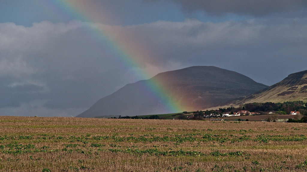 Spring Showers and Rainbow - Loch Leven