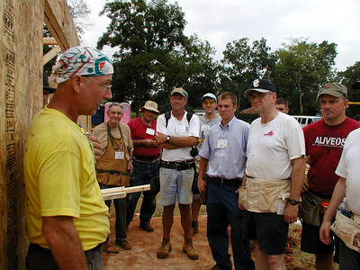 Mark Butler instructs his house crew leaders. Lise Green