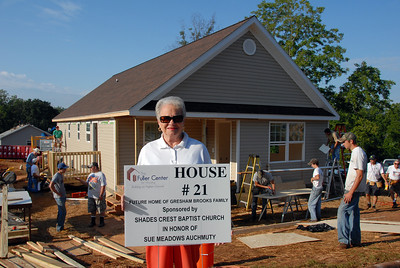 House #21 built in honor of Sue Auchmuty. crl