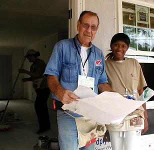 Doug Miller with new homeowner partner, Latishia Booker. Lise Green