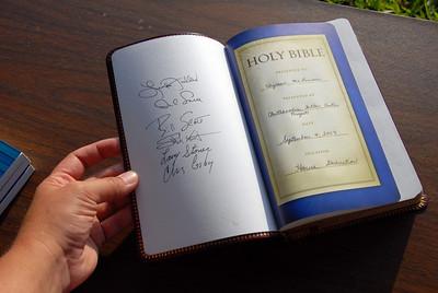 Inscription in Bibles. crl