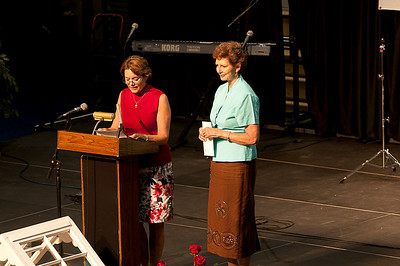 """Susan Gretchen Ferguson makes a surprise presentation to Linda Fuller from both Alabama and Georgia legislatures stating that a long stretch of Highway 29 from LaGrange, GA, through Lanett and West Point will be officially named the """"Millard Fuller Memorial Highway."""" crl"""