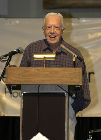 09 08-30 President Jimmy Carter at Millard Fuller Legacy Build Kickoff Celebration. cl