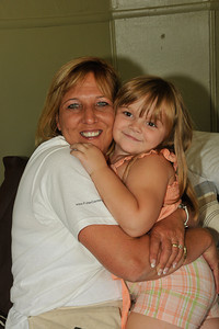 """10 09-10  Mandy, Molly's granddaughter, says over and over, """"I love my new bed.""""  mlj"""