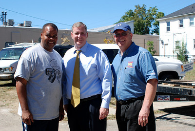 J Long, Mayor Greg Ballard, Jeff Cardwell.