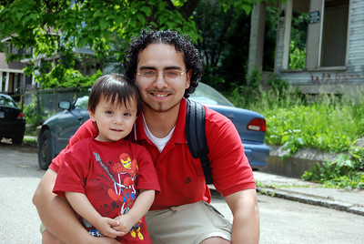 10 05-14 Manuel Martinez with son Manny, age 2. CL