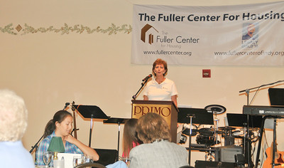 10 09-05 Linda Fuller, co-founder of The Fuller Center expresses appreciation to Fuller Center Indianapolis, MFLB participants, introduces FCH staff and shares about Millard's book, Beyond the American Dream.  mlj