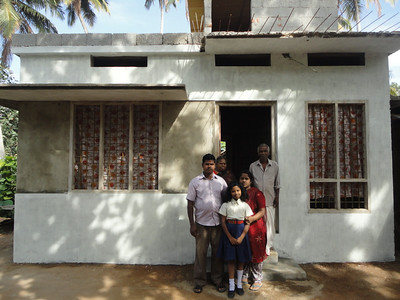 The Sheeba family moves into their new home (India).