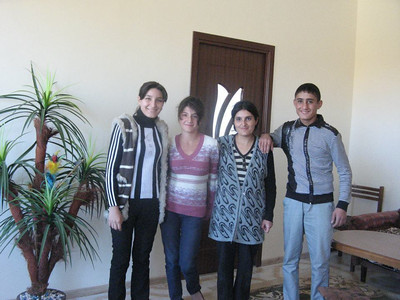 The Gyozalyan family moves into their new home in Dasht village in Armenia.
