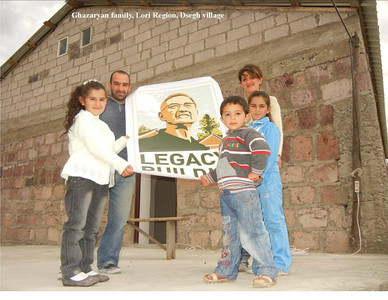 The Ghazaryan family moves into their new home in the Dsegh village in Armenia.