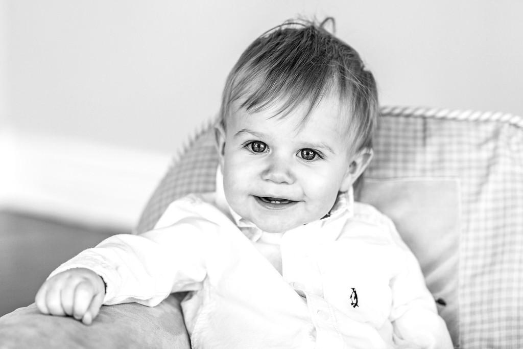 Lewis 1 year old-7b&w