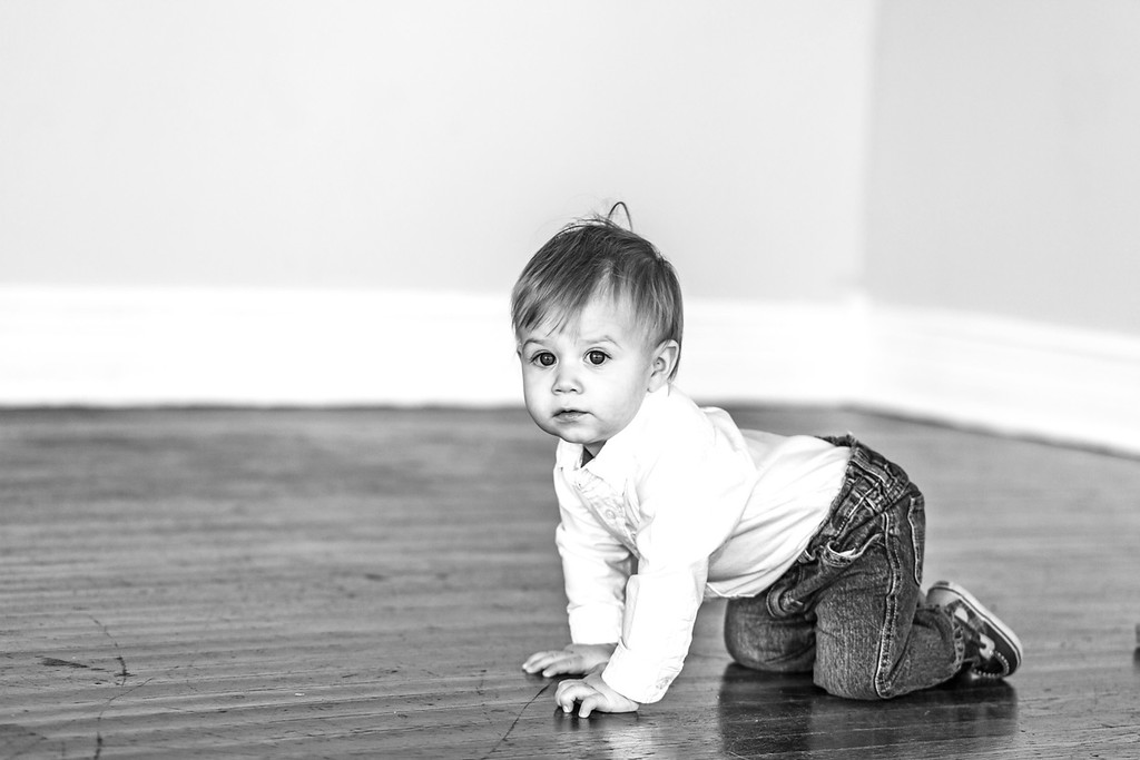Lewis 1 year old-10b&w