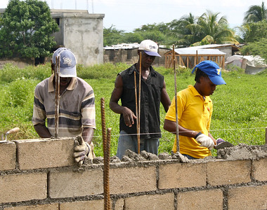 The Haitian labor force hard at work.