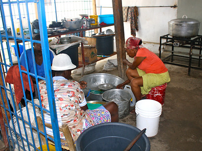 The women's kitchen, where they prepare food for hundreds of Haitian children on a regular basis.