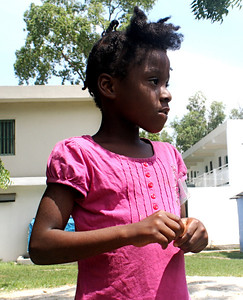 A girl at Grace International's orphanage.