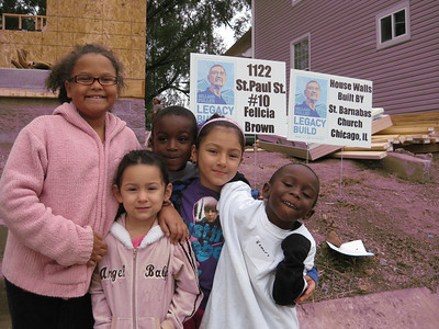 Children of Fuller Center homeowners in Fountain Square.