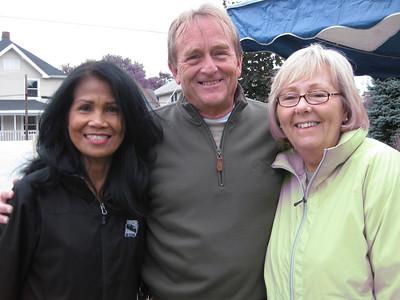 Winnie Ballard, left, wife of Indianapolis Mayor Greg Ballard, poses with David and Sheilla Snell.