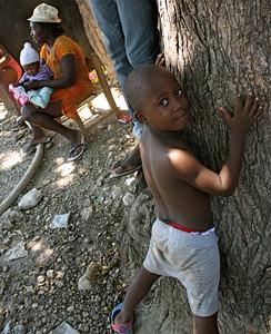 A Haitian boy in Grace International's refugee camp.