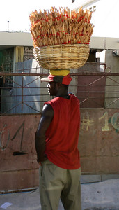 A glimpse of everyday life on the street, observed on our ride to the build site.