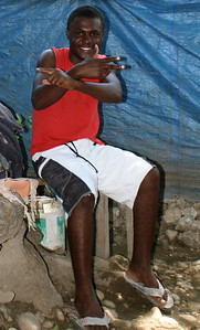Everyday life in Grace International's refugee camp.