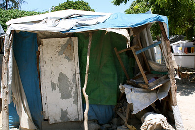 An example of poverty housing in Haiti, which the Fuller Center seeks to replace with simple, decent homes.