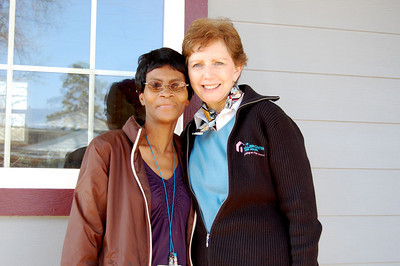 10 -3-19  Homeowner Minnie Hawkins with Linda Fuller in Minden, LA   KS