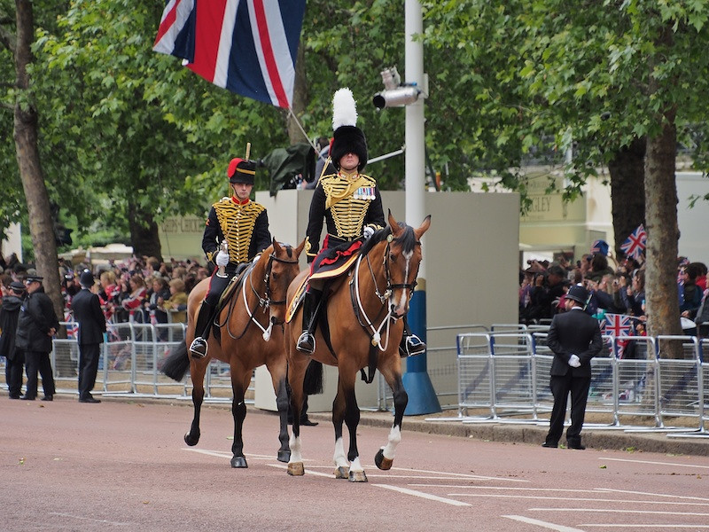 Officer Commanding Kings Troop Royal Horse Artillery, The Mall