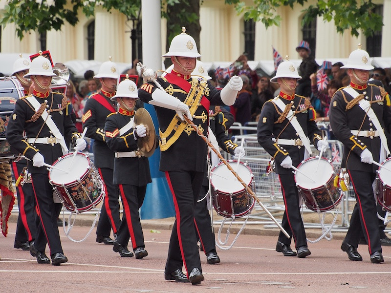 Band of the Royal Marines, The Mall
