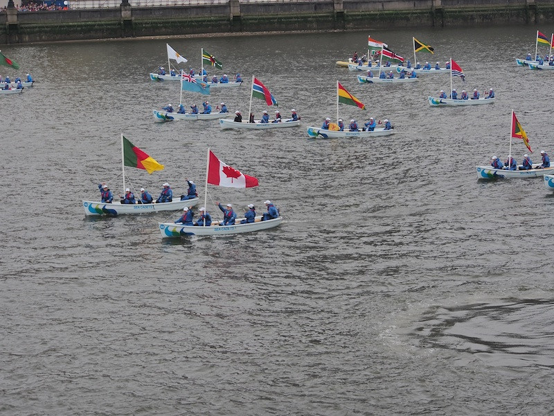 Flags of the Commonwealth, Thames River Pageant