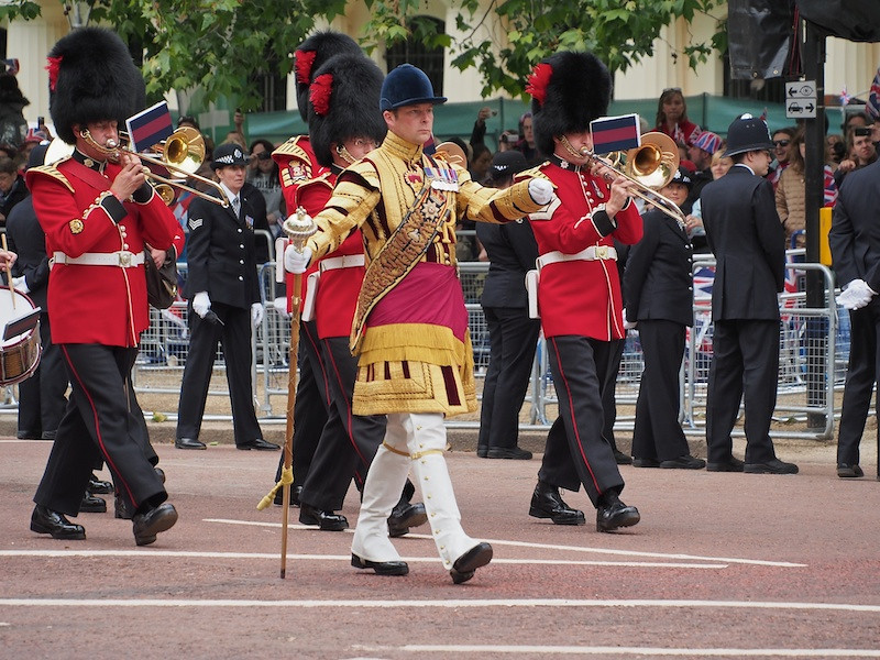 Coldstream Guards band, The Mall