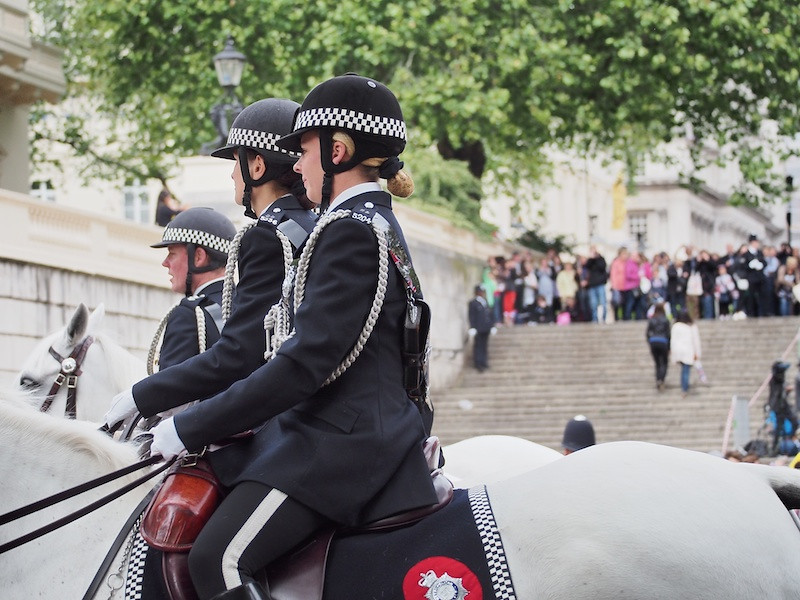 Mounted Police in No 1 dress, The Mall