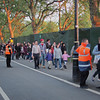 Crowds at 9p.m. coming to the concert, Hyde Park