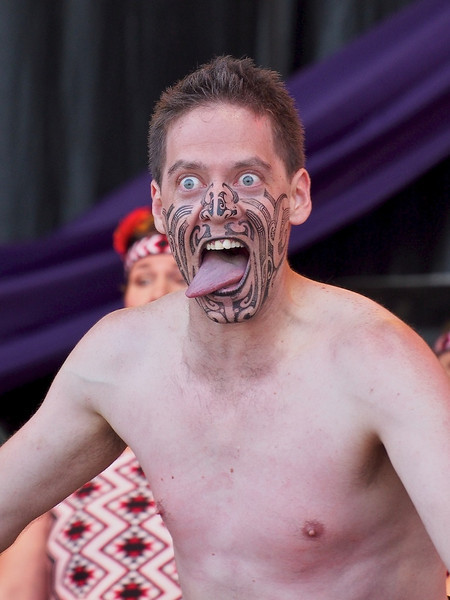 War face, Maori haka, Ngata Ranana, Commonwealth Stage, Jubilee Family Day