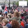 Crowds, the Embankment, near Blackfriars Bridge