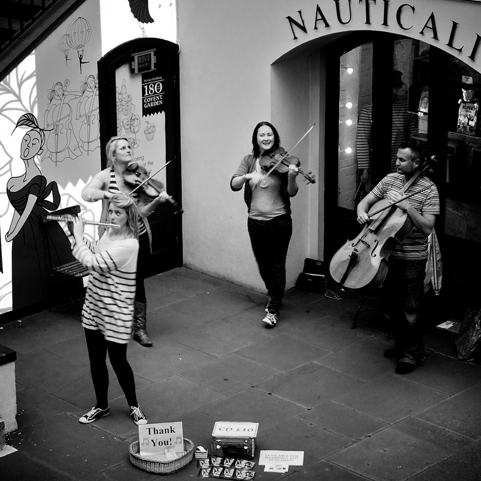 Busking, Covent Garden