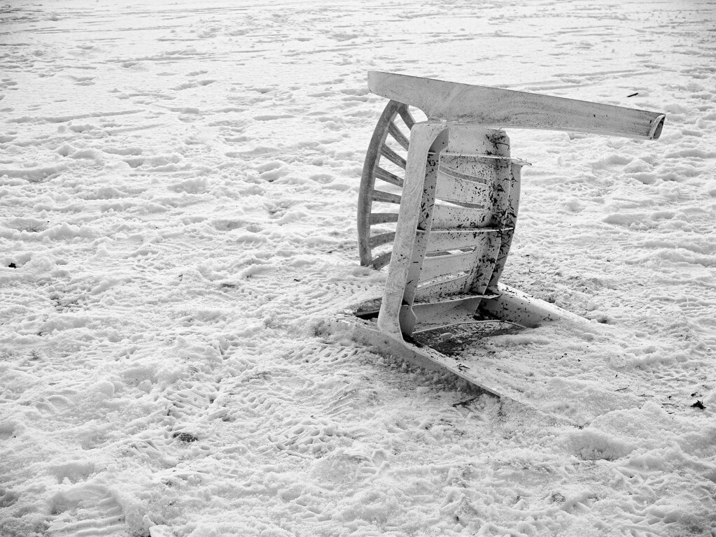 Chair on ice