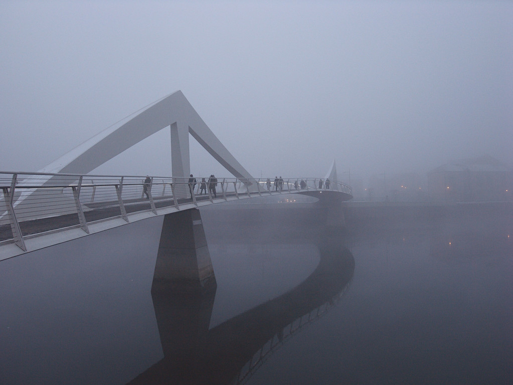 Tradestoun Bridge in Fog 2
