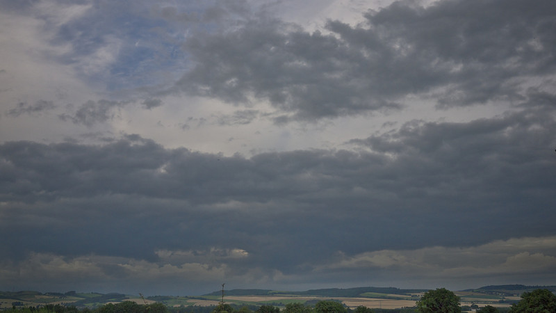 Summer sky (sunshine and showers), East Fife