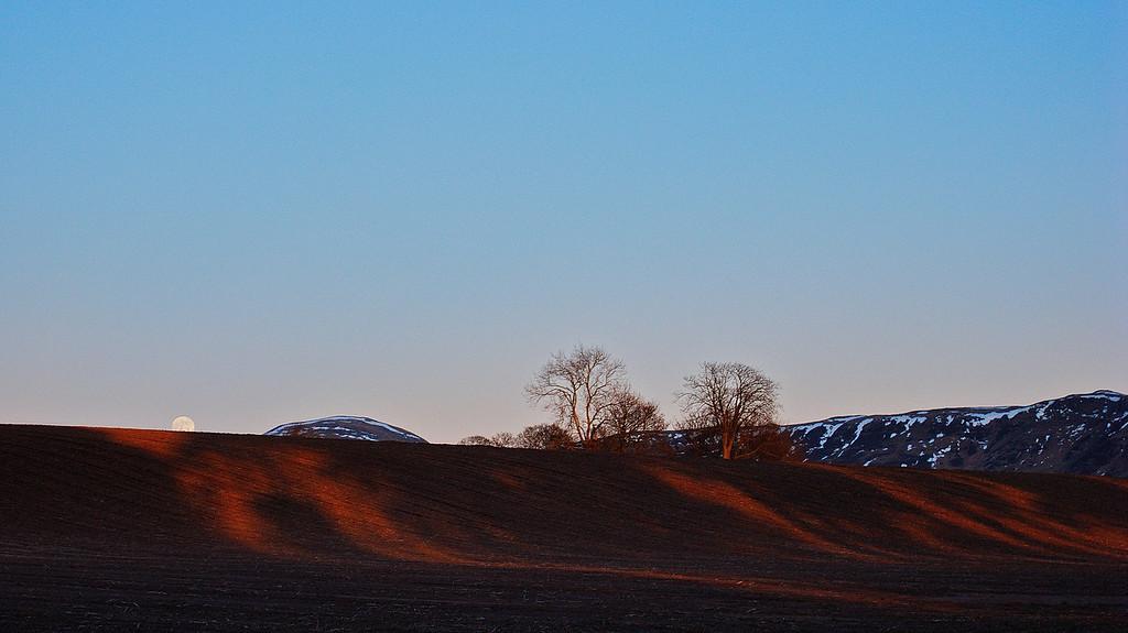 Moon Rising - West Lomond