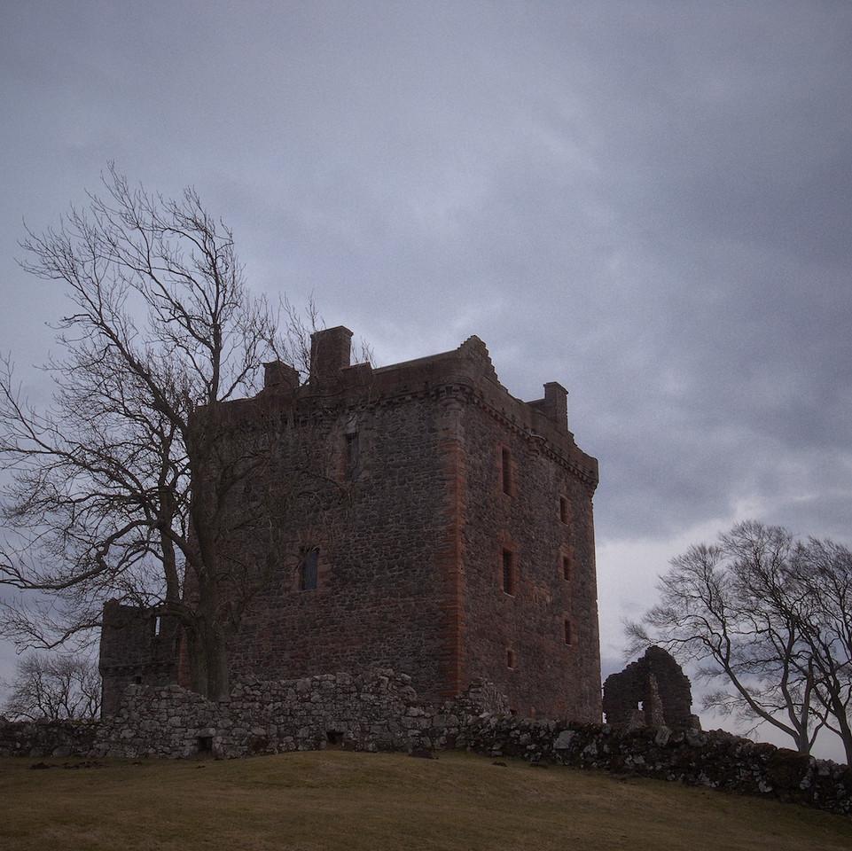 Balvaird Castle - tower block in colour