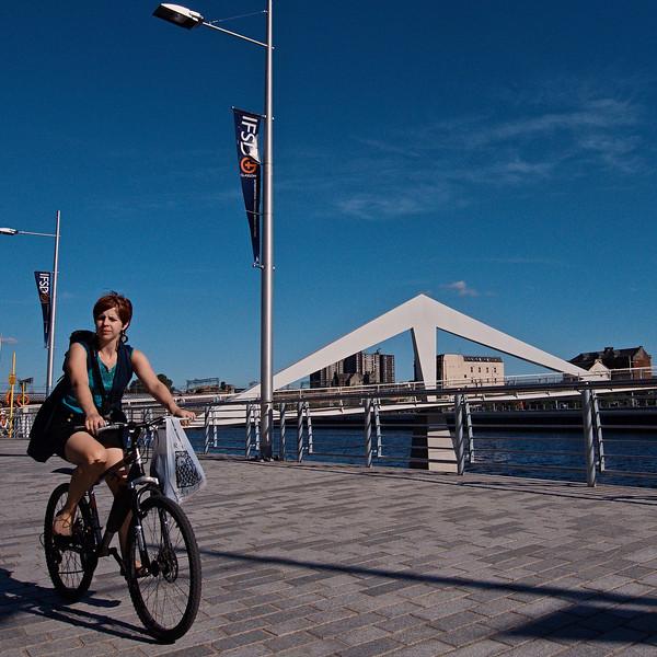 Cycling home, Broomielaw, Glasgow