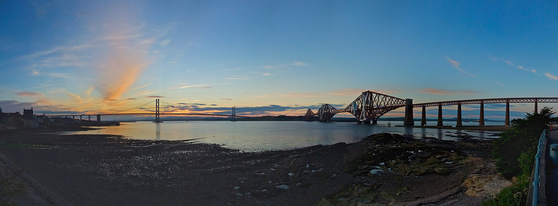 Sunset and the Forth bridges