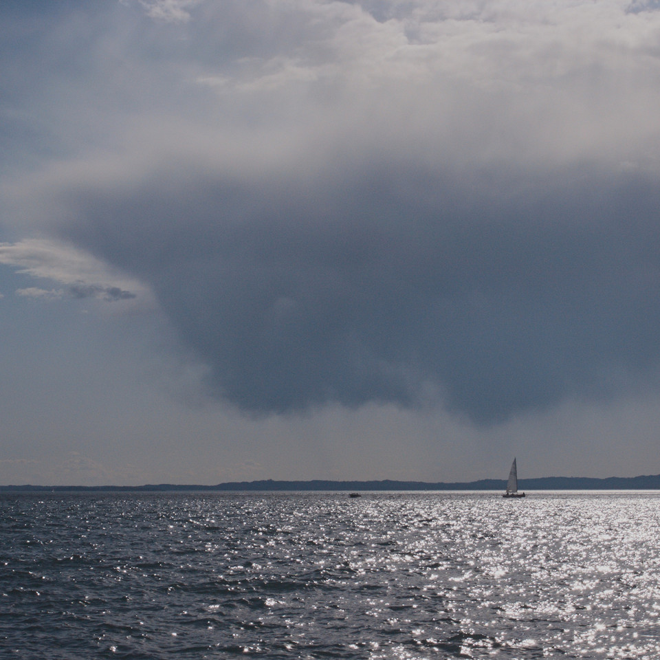 Approaching storm - Lake Garda (colour)