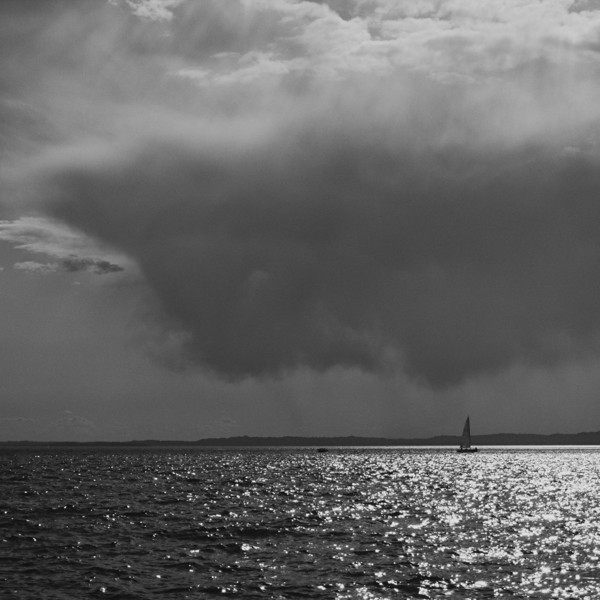 Approaching storm - Lake Garda (B&W)