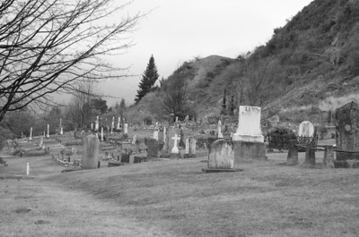 Arrowtown Cemetery. A Chinese settlement of the late 19th century. Only anglos in this graveyard.